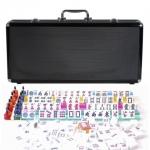 Black Aluminum Mahjong - American Style