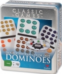 Cardinal Double Fifteen Color Dot Dominoes Tin