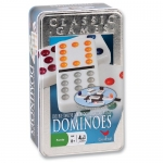 Cardinal Double Twelve Color Dot Dominoes Tin