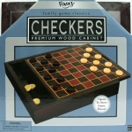 Checkers Set In Premium Wood Cabinet