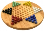 Chinese Checkers Game With Wooden Board