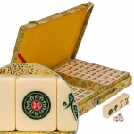 Chinese Golden Silk Mahjong Game Set