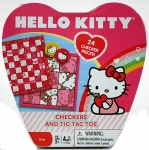 Hello Kitty Checkers and Tic-Tac-Toe