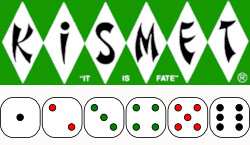 Kismet Logo and Dice