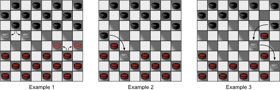 Checkers Moves (Examples 1, 2, 3)