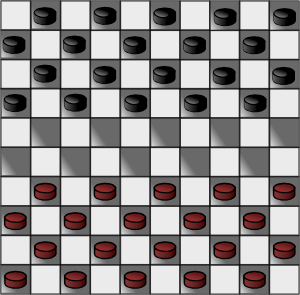 International Checkers Checkerboard