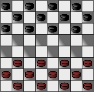 Italian Checkers Checkerboard