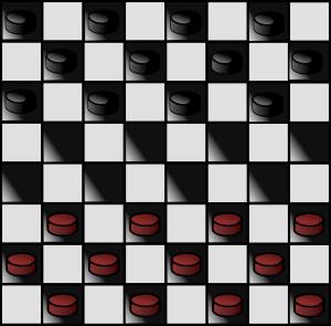 Italian Checkers Checkerboard