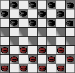 Russian Checkers Checkerboard