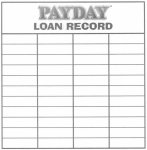 Payday Loan Record Sheet