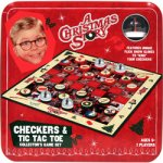 A Christmas Story Checkers & Tic Tac Toe Collector's Game Set