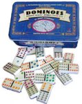 Double Twelve Color Dot Dominoes In Collectors Tin