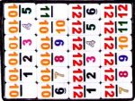 Double Twelve Numerical Dominoes