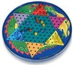 Tin Chinese Checkers Set