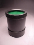 Cloth-Lined Plastic Dice Cup