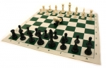 Chess Set - First Chess Tournament Men and Roll-Up Mat