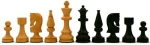 Chessmen - Traditional Russian Wood Weighted 3.5 Inch