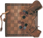 Leather Chess and Checker Board