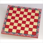 Red, White & Blue Chess Board