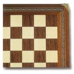 Mosaic Hardwood Chessboard with Brass Corners (17.5 inch)