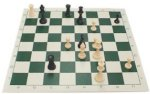 Vinyl Roll-up Chess Board, Green, 20-Inch