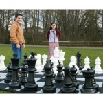 Giant Chess Set & Mat Combo (25-inch Pieces)