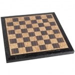 Black Leatherette-Edge Chess Board (15 inch)