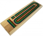 Cribbage Board - Three Track Red, Blue, and Green