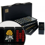 Japanese Riichi Mahjong Set with Black Tiles