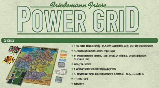 Power Grid Contents