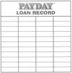 Payday Loan Record Sheet