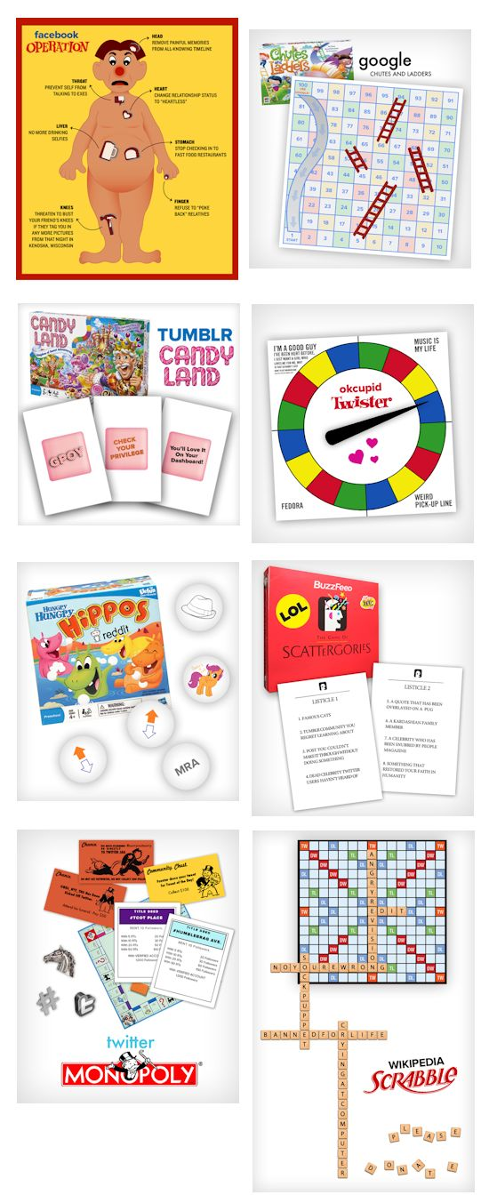 Popular Websites Reimagined As Classic Board Games