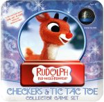 Rudolph the Red-Nosed Reindeer Checkers & Tic Tac Toe Set