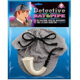 Sherlock Holmes Detective Hat and Pipe