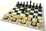 Chess Set - Pro Chess Tournament and Roll-Up Mat