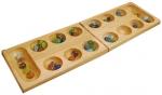 Solid Wood Folding Mancala Set